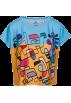 PINaR ERIS T-shirts -  Colorful Abstract Print Boxy T-Shirt