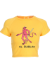 FECLOTHING T-shirts -  Demon Hunter printing yellow short-sleev