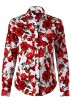 Dioufond Shirts -  Dioufond Women Floral Print Button Down Shirts Long Sleeve Shirt Blouse