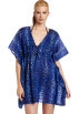 Amazon.com Tunic -  Echo Design Women's Cheetah Butterfly Tunic Dress Indigo