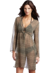 Amazon.com Dresses -  Echo Design Women's Cheetah Dress With Ties Khaki