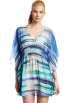 Amazon.com Tunic -  Echo Design Women's Mediterranean Stripe Butterfly Tunic Cobalt