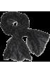Echo Scarf -  Echo Polka Dot Wrap Black