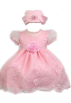 Amazon.com Dresses -  Elegant Baby Girl Pink Dress & Hat. Available in 12,18,24,36 Months