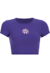 FECLOTHING Shirts -  Embroidered flower knit round neck T-shi