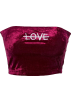 FECLOTHING Vests -  Embroidered umbilical wild t-shirt wrapp