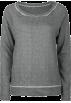 Full Tilt Long sleeves t-shirts -  FULL TILT Essential Cut Seam Womens Sweatshirt Charcoal