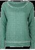 Full Tilt Puloverji -  FULL TILT Essential Cut Seam Womens Sweatshirt Green