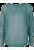 Full Tilt Puloverji -  FULL TILT Essential Open Knit Womens Sweater Green
