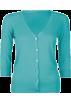 Full Tilt Puloverji -  FULL TILT Essential Womens Cardigan Teal Green