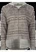 Full Tilt Long sleeves t-shirts -  FULL TILT Fair Isle Womens Hoodie Grey