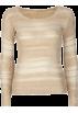 Full Tilt Pullovers -  FULL TILT Open Weave Womens Crop Top Cream