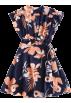ZAFUL Dresses -  Floral Tied Wrap Mini Dress