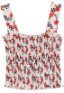 FECLOTHING Tanks -   Floral Wide Strapless Tank Top