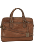 Frye Hand bag -  Frye James Work Zip Tumbled Full Grain DB116 Briefcase Taupe