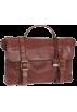 Frye Hand bag -  Frye Logan Flap Brief Case Dark Brown