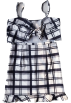 FECLOTHING Dresses -  GRID BOW TIE SKIRT SET