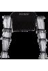 FECLOTHING Long sleeves t-shirts -  Gauze one-shoulder stitching hot drillin