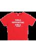 FECLOTHING T-shirts -  Girls Printed English Letter T-shirt