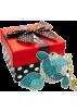 MG Collection Accessories -  Gold Fish Rhinestone Bling Crystals Handbag Charm Keychain Key Clip Holder w/Gift Box Blue