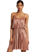 Halston Heritage Dresses -  Halston Heritage Women's Pleated Cocktail Dress Rose Gold