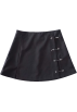 FECLOTHING Krila -  High waist 90s side slits short skirt