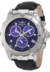 Invicta Watches -  Invicta Men's 1717 Pro Diver Chronograph Blue Dial Black Leather Watch