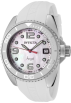 Invicta Watches -  Invicta Women's 0481 Angel Collection Stainless Steel White Polyurethane Strap Watch