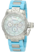 Invicta Watches -  Invicta Women's 1699 Corduba Mother-Of-Pearl Dial Blue Polyurethane and Stainless Steel Watch