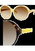 Amazon.com Sunglasses -  Kate Spade Ginette Sunglasses 0JXW Dark Tortoise Yellow (Y6 Brown Gradient Lens)