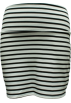 FineBrandShop Saias -  Ladies Black White Horizontal Striped Skirt