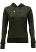 FineBrandShop Long sleeves t-shirts -  Ladies Charcoal Classic Center Pocket Hoody