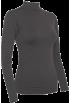 FineBrandShop Long sleeves t-shirts -  Ladies Charcoal Seamless Long Sleeve Turtleneck Top