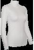 FineBrandShop Long sleeves t-shirts -  Ladies White Seamless Long Sleeve Turtleneck Top