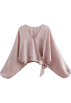 FECLOTHING Shirts -  Lantern sleeves gentle pink shirt