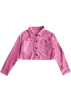 FECLOTHING Jacket - coats -  Lapel short cropped navel slim denim jac