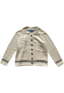 FECLOTHING Jacket - coats -  Lapel stitching striped pocket loose k