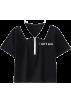 FECLOTHING Shirts -  Large lapel contrast color short letter