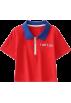 FECLOTHING T-shirts -  Large lapel contrast color short letter