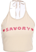 FECLOTHING Shirts -  Letter hanging neck strap camisole