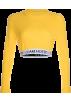 FECLOTHING Shirts -  Letter webbing long sleeve sweater
