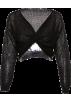 FECLOTHING Long sleeves shirts -  Long sleeve V-neck cropped navel short p