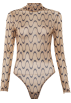 FECLOTHING Pajamas -  Long-sleeved mesh perspective wavy line
