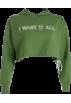 FECLOTHING Long sleeves shirts -  Loose hem drawstring hooded sweater lett