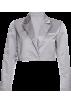 FECLOTHING Swetry -  Loose slim satin suit jacket short