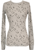 PacificPlex Long sleeves t-shirts -  Lucky Stars Print Cotton Thermal Long Sleeve T-Shirt Junior Plus Size Heather-Grey