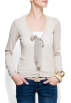 Mango Cardigan -  Mango Women's Bow Cotton Cardigan ICE
