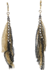 Mango Naušnice -  Mango Women's Chain Earrings