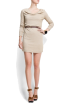 Mango Dresses -  Mango Women's Cowl Neck Dress Beige