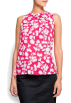 Mango Top -  Mango Women's Flower Blouse FUCSIA